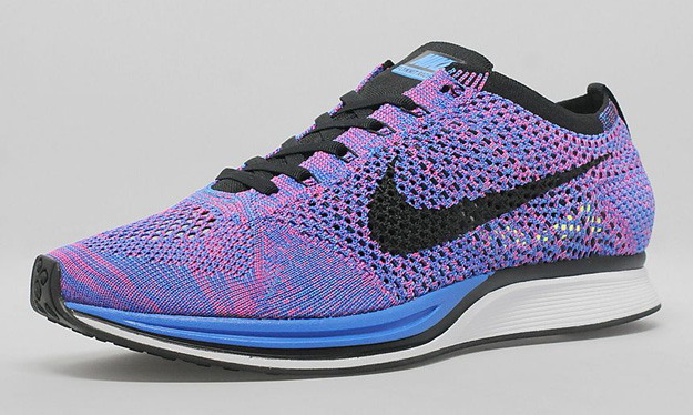 2014 Nike Flyknit Racer Game Royal Pink Flash