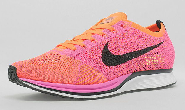 2014 Nike Flyknit Racer Pink Flash Black