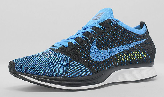 2014Nike Flyknit Racer Black Photo Blue