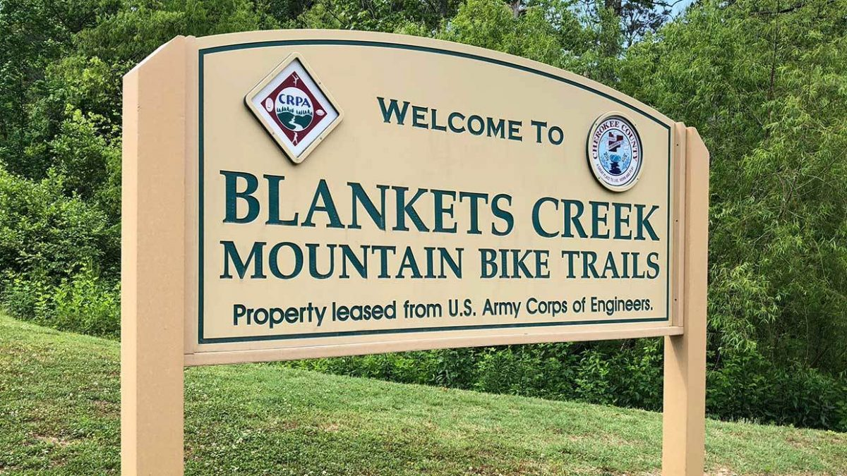 Blankets Creek Trails Sign