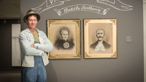 Butch Anthony With Paintings