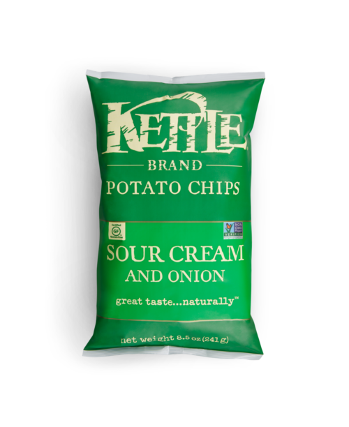Sour Cream and Onion Kettle Brand Potato Chips