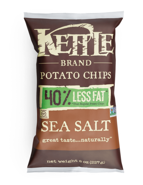 Less Fat Sea Salt Kettle Brand Potato Chips