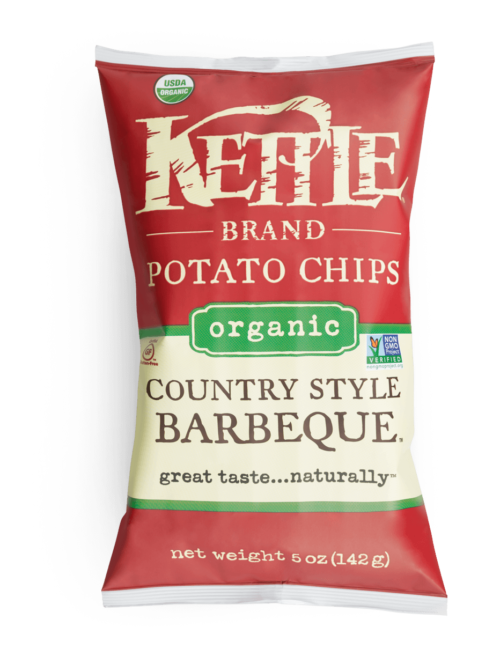 Organic CountryBarbeque Kettle Brand Potato Chips