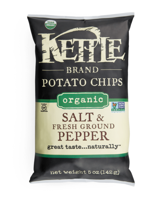 Organic Salt and Fresh Ground Pepper Kettle Brand Potato Chips
