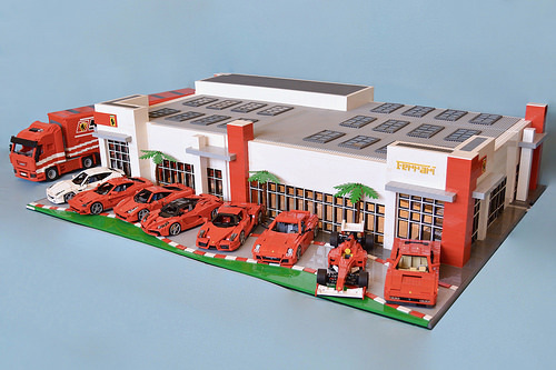 Ferrari Tampa Dealership in LEGO