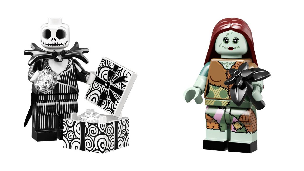 Jack and Sally LEGO Minifigures from The Nightmare Before Christmas