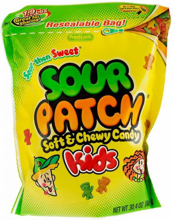 1990s Sour Patch Kids Packaging