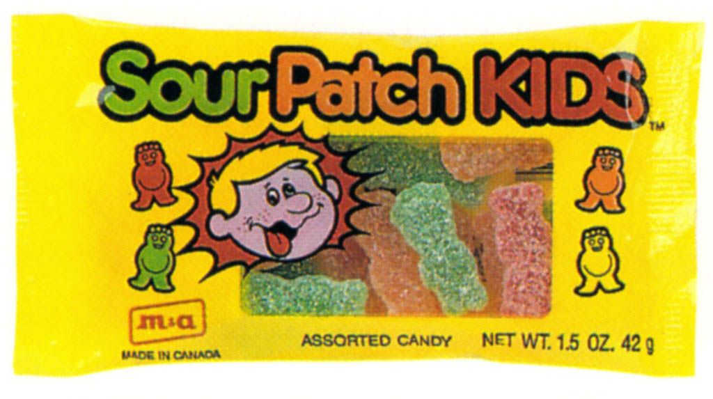 1990's Sour Patch Kids Packaging