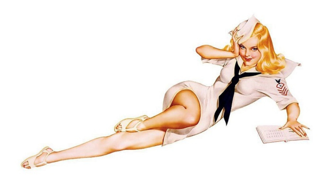 Alberto Vargas Sailor Girl Pin-Up