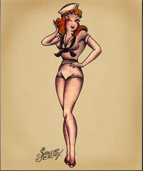 Sailor Jerry Navy Pin-Up Girl Flash