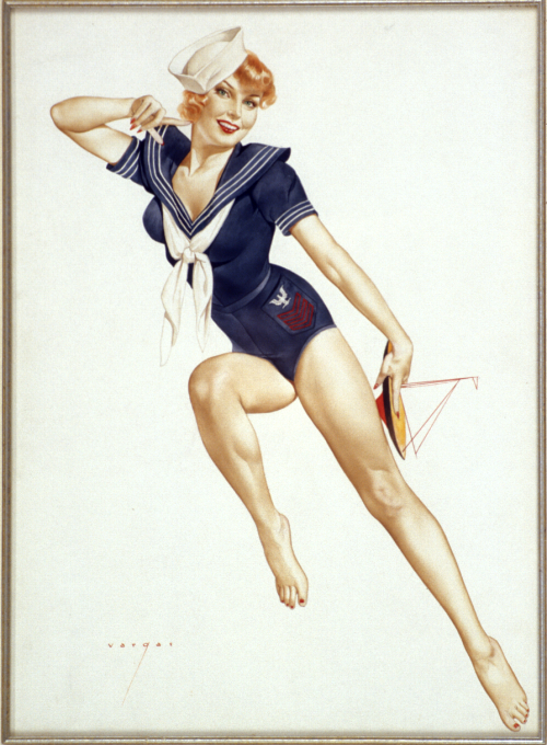 Alberto Vargas Sailor Girl PIn-up blue outfit