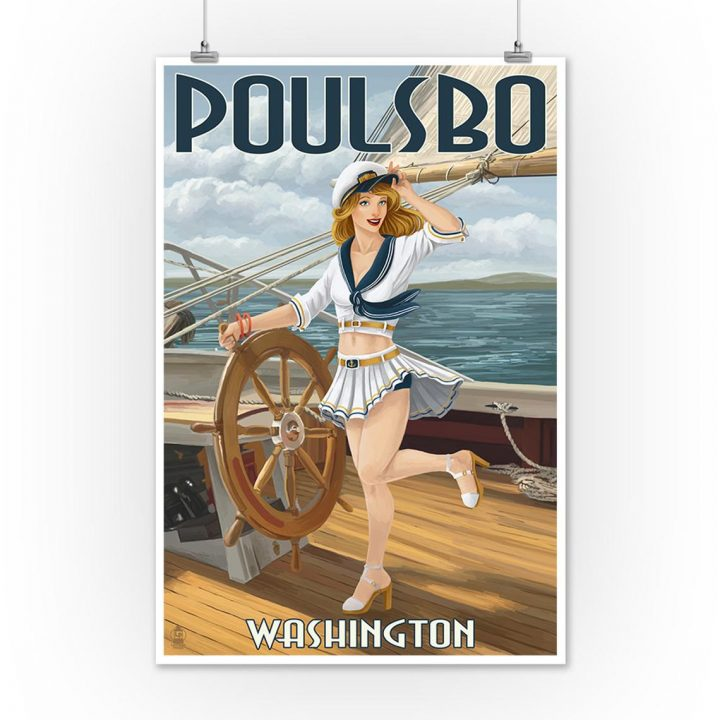sailor girl pin-up ad
