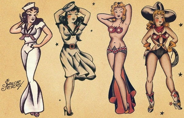 Sailor Jerry Pin-up Girl Flash
